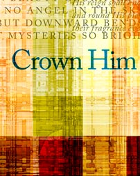 """Crown Him with Many Crowns"" artwork detail"
