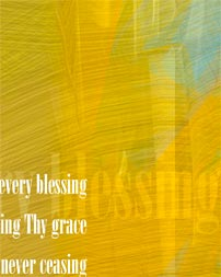 """Come, Thou Fount of Every Blessing"" artwork detail"