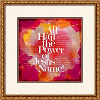 "Framing example -- ""All Hail the Power of Jesus' Name"""