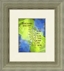 "Framed example -- ""Blessed Assurance"""
